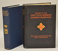 MASSACHUSETTS REGIMENTS IN THE CIVIL WAR - 2 Volumes