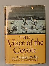 The Voice of the Coyote by J. Frank Dobie - SIGNED 1ST EDITION