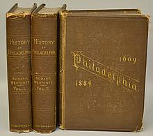 History of Philadelphia 1609-1884 by J. Thomas Scharf and Thompson Westcott - Complete in 3 Volumes