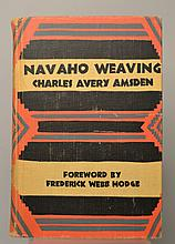 Navaho Weaving - Its Technic and History by Charles Avery Amsden