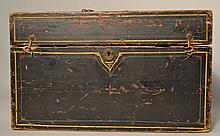 19TH CENT. N.E. PAINTED WOODEN INSTRUMENT CASE