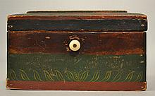 19TH CENT. N.E. PAINTED WOODEN LETTER BOX