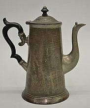 19TH CENT. TIN LIGHT HOUSE COFFEE POT