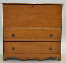 19TH CENT. N.E. COUNTRY PINE (2) DRAWER BLANKET CHEST