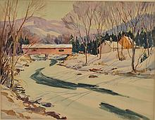 LEO B. BLAKE WATERCOLOR LANDSCAPE PAINTING