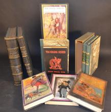 CHILDREN'S & JUVENILE -8 Volumes and Lithograph Sheet