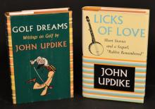 John Updike - 2 Volumes  [SIGNED, WITH SKETCHES BY UPDIKE]