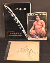 JAPANESE - 2 Volumes & Signed Card