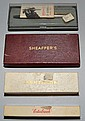 4 FOUNTAIN PENS IN BOXES TO INCLUDE ESTERBROOK, PARKER, PLATGNUM & SHEAFFER