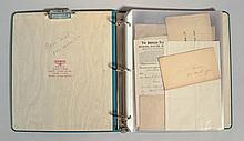COLLECTORS ALBUM OF 19TH CENT. PAPER EPHEMERA