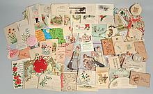 FLAT LOT OF MISC. 19TH CENT. & 20TH CENT. EPHEMERA AND PAPER SAVINGS
