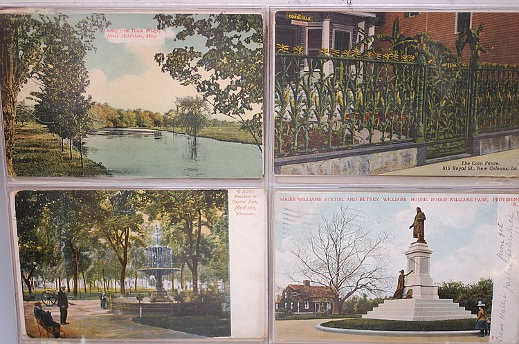 ALBUM W/ (172) MISC. POSTCARDS