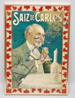 EARLY 20TH CENT. SPANISH TIN LITHOGRAPH STOMACH ELIXIR ADVERTISING SIGN