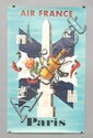 VINTAGE AIR FRANCE ADVERTISING TRAVEL POSTER