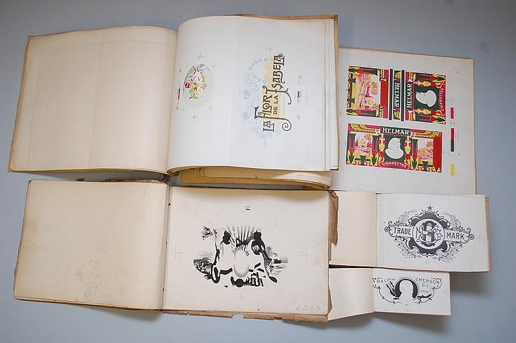(5) MISC. CIGAR & CIGARETTE LABEL PRINTER'S PROOF BOOKS