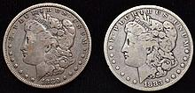 2 U.S. SILVER MORGAN SILVER DOLLARS DATED 1880 & 1883 ($2.00 FACE VALUE)