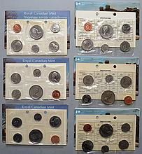 3 1978 & 3 1975 CANADIAN PROOF SETS ($11.46 FACE VALUE)
