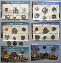 3 1977 & 3 1974 CANADIAN PROOF SETS ($11.46 FACE VALUE)