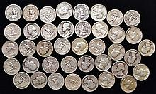 40 MISC. U.S. SILVER WASHINGTON QUARTERS ($10.00 FACE VALUE)