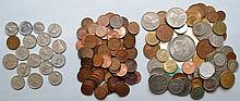 FOREIGN COIN LOT CONTAINING 70 COINS AND A CANADIAN LOT OF 110 COINS