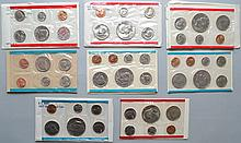 4 U.S. P & D MINT SETS TO INCLUDE 1971, 1973, 1974, 1977 ($13.28 FACE VALUE)