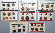 4 U.S. P & D MINT SETS TO INCLUDE 1978, 1979, 1980 & 1981 ($16.28 FACE VALUE)