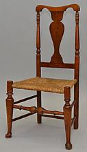 N.E. QUEEN ANNE YOKE BACK CHAIR