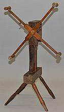 19TH CENT. N.E. PRIMITIVE YARN WINDER
