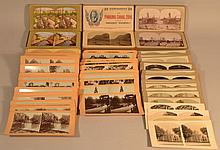 (70) MISC. PHOTOGRAPH STEREOVIEW CARDS ALONG WITH (3) 25 PC. LITHOGRAPH BOXED SETS