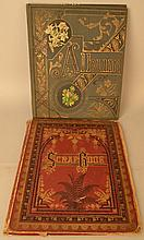 (2) 19TH CENT. VICTORIAN SCRAPBOOK ALBUMS