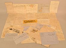 COLLECTION OF MISC. 19TH & EARLY 20TH CENT. BUSINESS RECEIPTS AND BILL HEADS