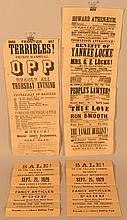 (4) 19TH & 20TH CENT. ADVERTISING BROADSIDES