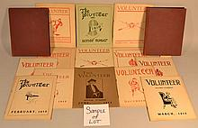 (39) ISSUES OF THE CONCORD HIGH SCHOOL VOLUNTEER - STUDENT PUBLICATION FROM THE 1910'S