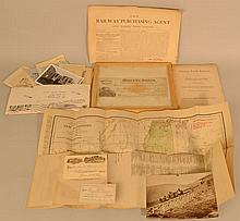 19TH & 20TH CENT. RAILROAD PHOTOGRAPHS AND PAPER EPHEMERA