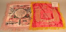 (12) MISC. VINTAGE SOLDIERS SOUVENIR PILLOWCASE COVERS WITH SENTIMENTS FOR LOVED ONES AT HOME