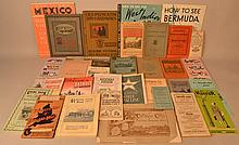 FLAT LOT OF U.S. AND FOREIGN TRAVEL EPHEMERA