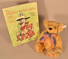 1998 LIMITED EDITION STEIFF TEDDY'S BEAR NO. 06414 WITH TEDDY BEAR MEN BOOK