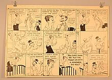 (2) 1940'S ORIGINAL MUTT AND JEFF CARTOON ART DRAWINGS BY H.C. FISHER