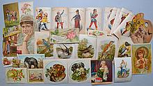 COLLECTION OF APPROX. (80) VICTORIAN ADVERTISING TRADE CARDS AND EXTRAS