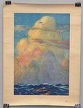 1927 CHARLES LINDBERGH'S SPIRIT OF ST. LOUIS POSTER TITLED - WE