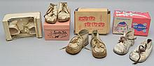 (4) PAIRS OF VINTAGE BABY SHOES IN THE ORIGINAL BOXES
