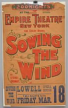 19TH - EARLY 20TH CENT. SHOW ADVERTISING POSTER FOR - SOWING THE WIND