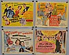 (4) MISC. 1940'S & 1950'S MOVIE ADVERTISING POSTERS