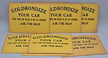 (23) VINTAGE GOLDBONDIZED PAINTED CARD ADVERTISING SIGNS