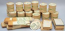 LOT OF UN-USED VINTAGE ICE CREAM CARTONS, CAPS, AND ORDER PADS FROM STONECREST FARM - WHITE RIVER JUNCTION VT.