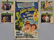 VINTAGE MOVIE ADVERTISING POSTER AND LOBBY CARDS FOR ABBOTT & COSTELLO MEET DR. JECKYLL AND MYR. HYDE