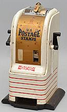 VINTAGE NORTHWESTERN CORP. COIN OPERATING U.S. POSTAGE STAMP VENDING MACHINE