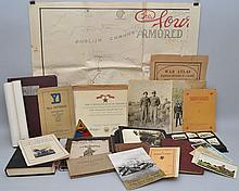 FLAT LOT OF MISC. VINTAGE MILITARY BOOKS, PHOTOGRAPHS AND PAPER EPHEMERA