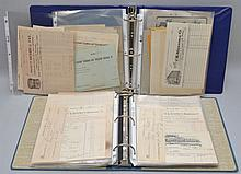 (2) COLLECTORS ALBUMS OF VINTAGE BUSINESS CORRESPONDENCE, BILL HEADS AND PAPER EPHEMERA