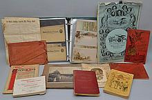 COLLECTION OF COLUMBIAN EXPOSITION PAPER EPHEMERA AND COLLECTIBLES